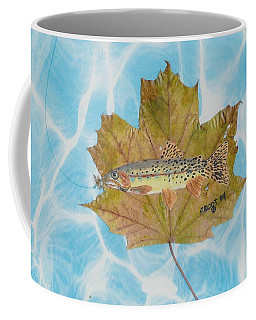 Brook Trout On Fly Coffee Mug by Ralph Root