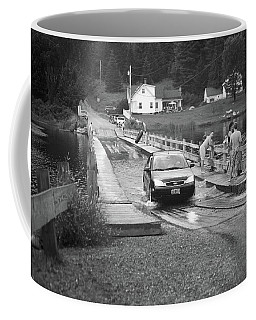 Coffee Mug featuring the photograph Brookfield, Vt - Floating Bridge 3 Bw by Frank Romeo