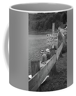 Coffee Mug featuring the photograph Brookfield, Vt - Floating Bridge 4 Bw by Frank Romeo