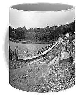Coffee Mug featuring the photograph Brookfield, Vt - Floating Bridge 5 Bw by Frank Romeo