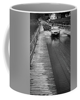 Coffee Mug featuring the photograph Brookfield, Vt - Floating Bridge Bw by Frank Romeo