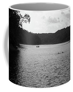 Coffee Mug featuring the photograph Brookfield, Vt - Swimming Hole Bw 2 by Frank Romeo