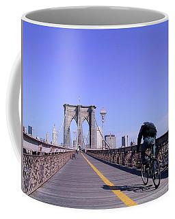 Brooklyn Bridge Bicyclist Coffee Mug