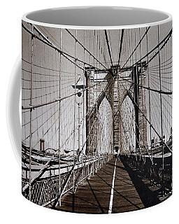 Brooklyn Bridge By Art Farrar Photographs, Ny 1930 Coffee Mug