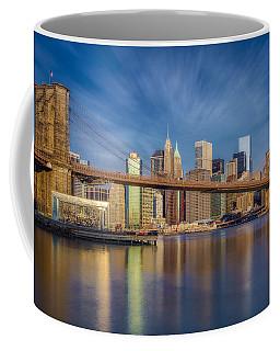 Coffee Mug featuring the photograph Brooklyn Bridge From Dumbo by Susan Candelario
