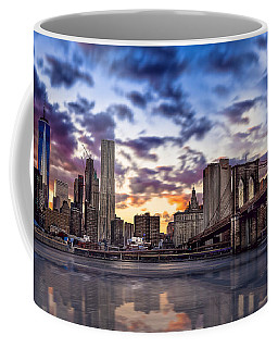 Brooklyn Bridge Manhattan Sunset Coffee Mug