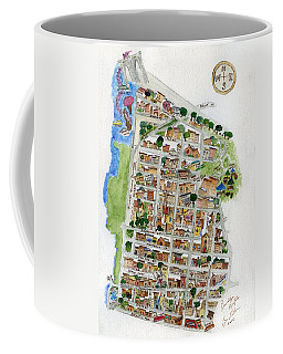 Brooklyn Heights Map Coffee Mug