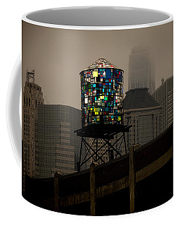 Coffee Mug featuring the photograph Brooklyn Water Tower by Chris Lord