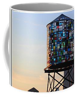 Brooklyn's Glowing Glass Water Tower - Public Art Coffee Mug