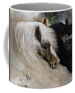 Coffee Mug featuring the painting Brothers by Barbie Batson