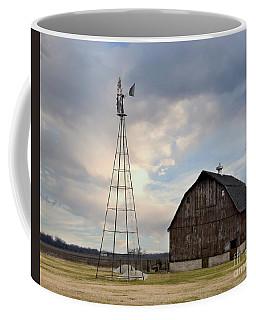 Brown Barn And Windmill Coffee Mug