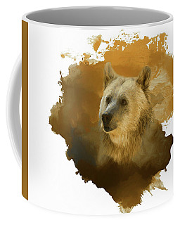 Coffee Mug featuring the painting Brown Bear by Steven Richardson