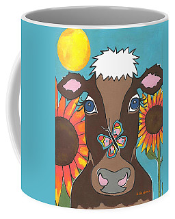 Brown Cow - Children Animal Art Coffee Mug