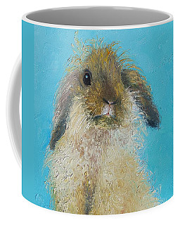 Brown Easter Bunny Coffee Mug by Jan Matson