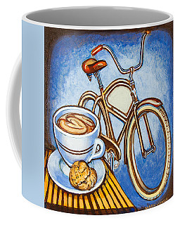 Brown Electra Delivery Bicycle Coffee And Amaretti Coffee Mug