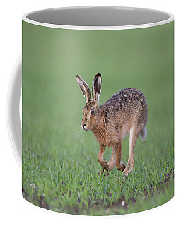 Brown Hare Running Coffee Mug