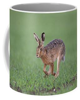 Brown Hare Running Coffee Mug