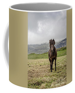 Coffee Mug featuring the photograph Brown Icelandic Horse by Edward Fielding