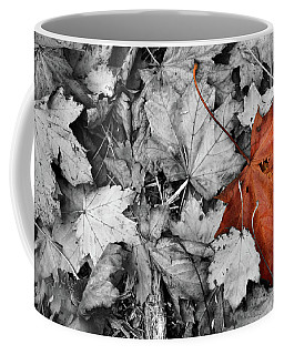 Brown Maple Leaf Coffee Mug