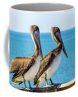 Coffee Mug featuring the photograph Brown Pelican Pair by Randy Bayne