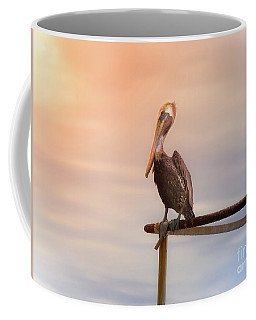 Coffee Mug featuring the photograph Brown Pelican Sunset by Robert Frederick