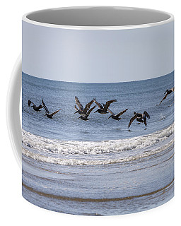 Brown Pelicans In Flight Coffee Mug
