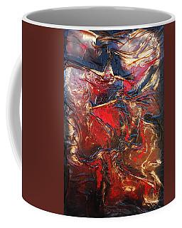 Brown, Red And Gold Coffee Mug