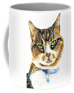 Brown Tabby Cat Watercolor Coffee Mug