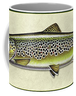 Brown Trout Id Coffee Mug