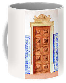 Brown Wood Door Of Old World Europe Coffee Mug