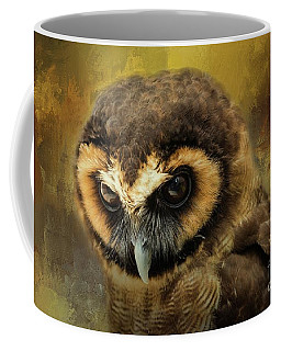 Brown Wood Owl Coffee Mug