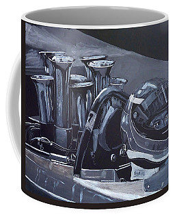 Coffee Mug featuring the painting Bruce Mclaren Canam by Richard Le Page