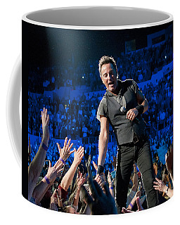 Coffee Mug featuring the photograph Bruce Springsteen La Sports Arena by Jeff Ross