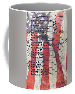 Bruce Springsteen Setlist At Rock In Rio Lisboa 2012 Coffee Mug by Marco Oliveira