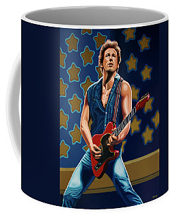 Bruce Springsteen The Boss Painting Coffee Mug