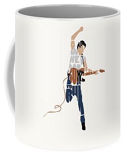 Bruce Springsteen Typography Art Coffee Mug