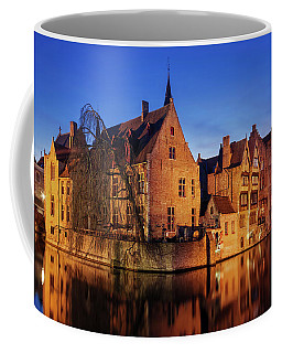 Bruges Architecture At Blue Hour Coffee Mug
