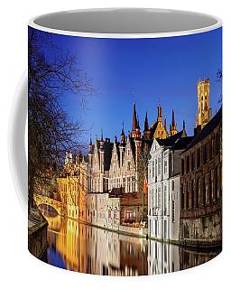 Bruges Canal At Night Coffee Mug
