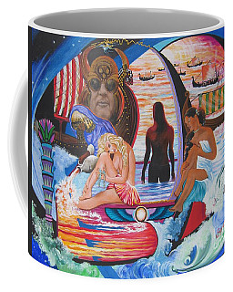 Blaa Kattproduksjoner     Two  Godessess Enjoying  The Nile Spa Coffee Mug