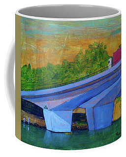 Coffee Mug featuring the painting Brunswick River Bridge by Paul McKey