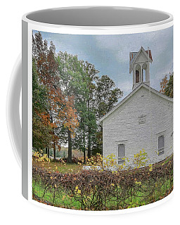 Coffee Mug featuring the photograph Brushville Hall by Trey Foerster