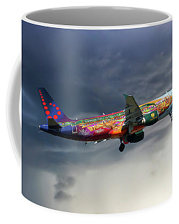 Brussels Airlines Airbus A320-214 Coffee Mug
