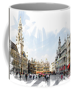 Brussels Grote Markt  Coffee Mug by Tom Cameron