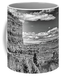 Bryce Canyon In Black And White Coffee Mug by Nancy Landry