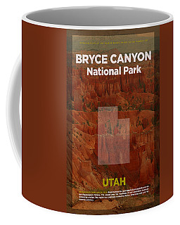 Bryce Canyon National Park In Utah Travel Poster Series Of National Parks Number 06 Coffee Mug