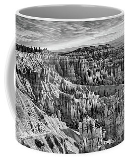 Bryce Hoodoo X Bw Coffee Mug by Chuck Kuhn