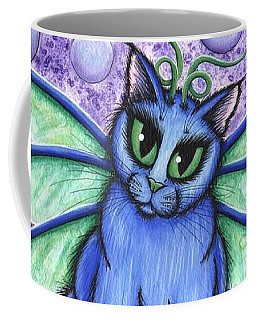Coffee Mug featuring the painting Bubble Fairy Cat by Carrie Hawks
