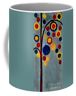 Bubble Tree - Dps02c02f - Right Coffee Mug by Variance Collections