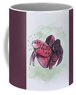 Coffee Mug featuring the painting Bubbles, Betta Fish by Clyde J Kell