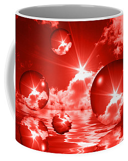 Bubbles In The Sun - Red Coffee Mug